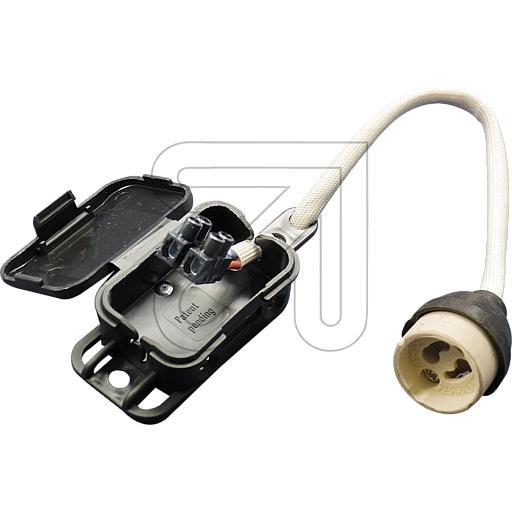 GU10 Fassung Hochvolt Fassung mit Anschlussbox temperaturbeständig bis 250°C