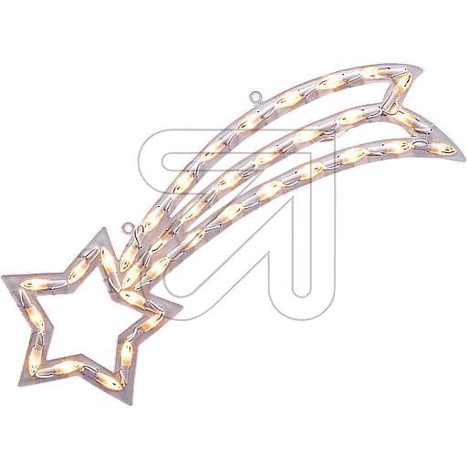 LED-Fenstersilhouette Komet 35 LEDs warmweiß 55x22cm