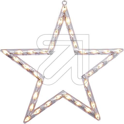 LED-Fenstersilhouette Stern 35 LEDs warmweiß 50x47cm