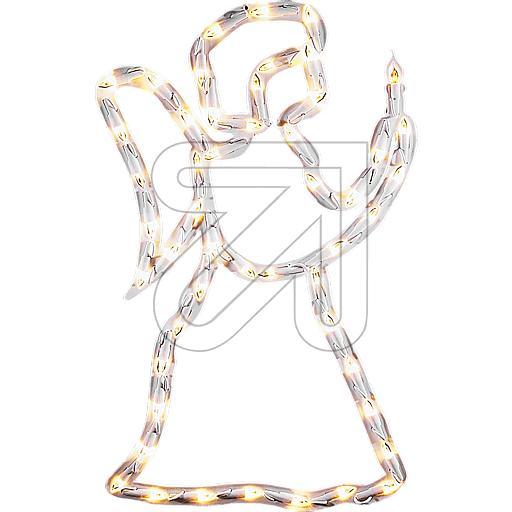 LED-Fenstersilhouette Engel 50 LEDs warmweiß 32,5x52,5cm
