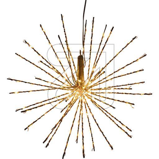 LED-Stern Zuleitung braun Twig Ball Ø30cm 160 LEDs ww