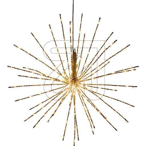 LED-Stern Zuleitung braun Twig Ball Ø40cm 240 LEDs ww