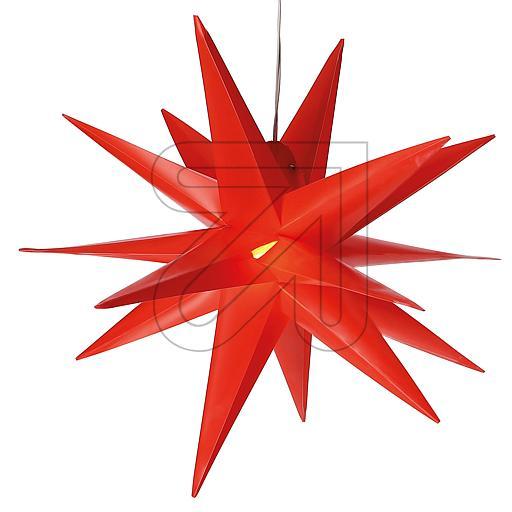 LED-Kunststoff-Stern 35x35cm rot CAS30192