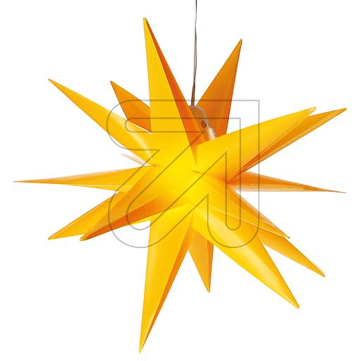 LED-Kunststoff-Stern 35x35cm gelb CAS30191