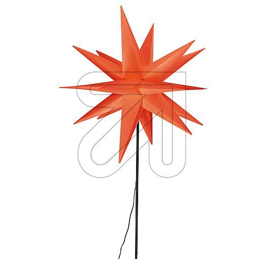 Kunststoff-Stern Ø55cm mit Bodenspieß rot CAS6100