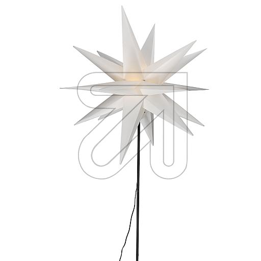 Kunststoff-Stern Ø55cm mit Bodenspieß weiß CAS6200