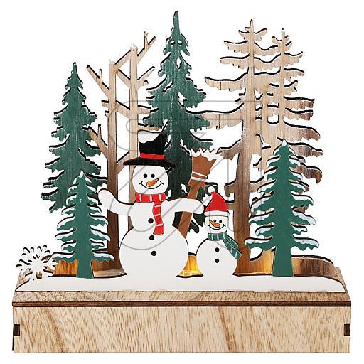 LED Diorama Wald-Schneemänner