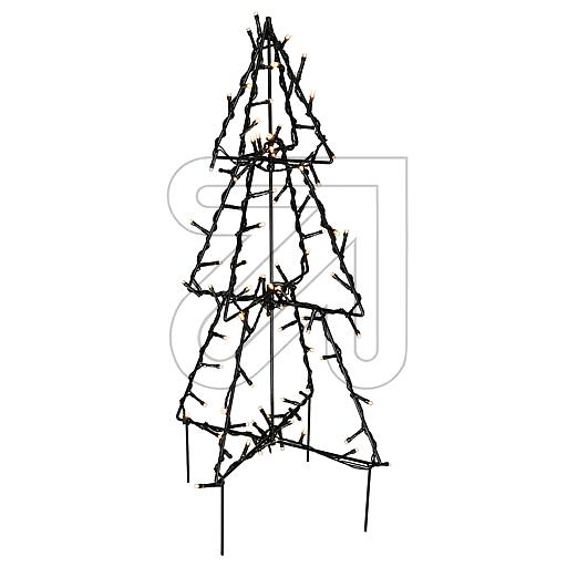 LED-Metall-3D-Baum Foldy Ø30x50cm 807-52