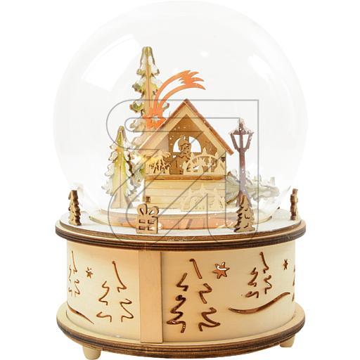 LED-Spieluhr Weihnachtsmarkt 10 LEDs warmweiß Ø15x22cm