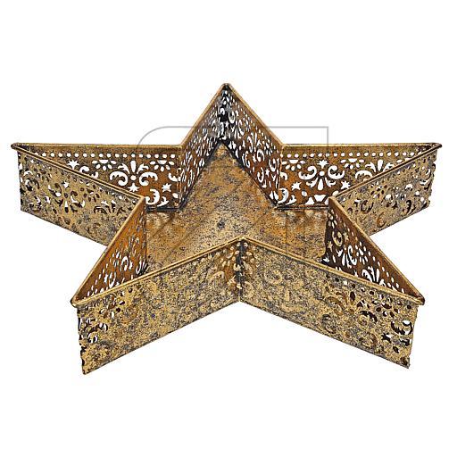 Ornamentschale Stern 42x7x40cm 18145