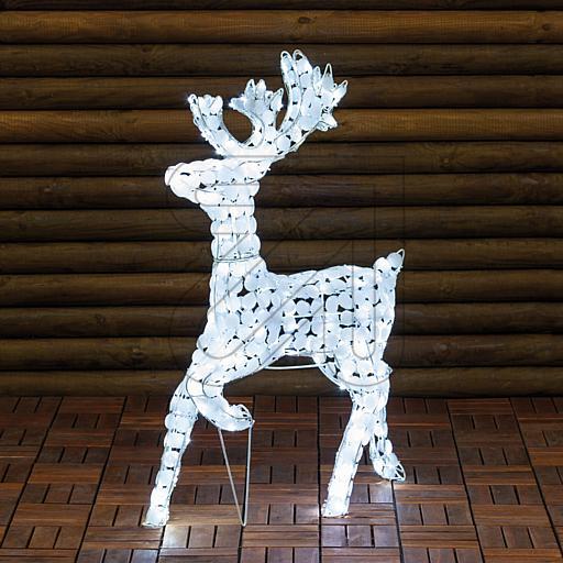 LED-Acryl-Rentier 200 LEDs weiß 60x85cm 36390