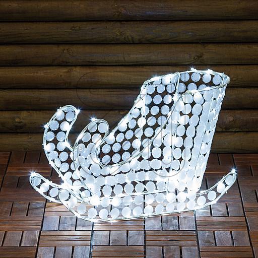 LED-Acryl-Schlitten 120 LEDs weiß 60x40cm 36406