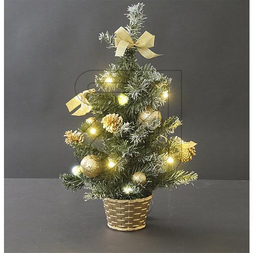 Tischbaum 10 LEDs warmweiß H50cm goldfarbig